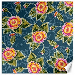 Floral Fantsy Pattern Canvas 16  X 16   by DanaeStudio
