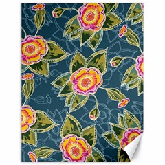 Floral Fantsy Pattern Canvas 18  X 24   by DanaeStudio