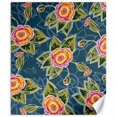 Floral Fantsy Pattern Canvas 20  X 24   by DanaeStudio