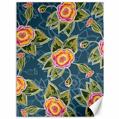 Floral Fantsy Pattern Canvas 36  X 48   by DanaeStudio