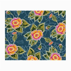Floral Fantsy Pattern Small Glasses Cloth (2 Side) by DanaeStudio