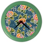 Floral Fantsy Pattern Color Wall Clocks