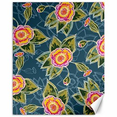 Floral Fantsy Pattern Canvas 11  X 14   by DanaeStudio