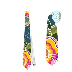 Floral Fantsy Pattern Neckties (two Side)  by DanaeStudio