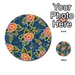 Floral Fantsy Pattern Multi-purpose Cards (Round)  Back 34