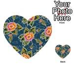 Floral Fantsy Pattern Multi-purpose Cards (Heart)  Back 12