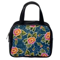 Floral Fantsy Pattern Classic Handbags (one Side) by DanaeStudio