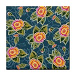 Floral Fantsy Pattern Face Towel Front