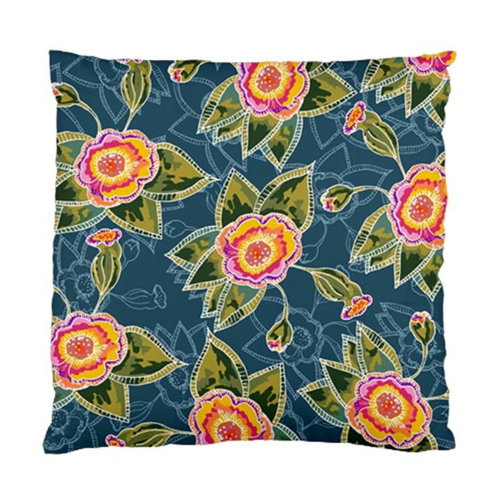 Floral Fantsy Pattern Standard Cushion Case (Two Sides)