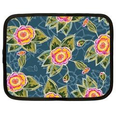 Floral Fantsy Pattern Netbook Case (xxl)  by DanaeStudio