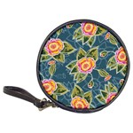 Floral Fantsy Pattern Classic 20-CD Wallets Front
