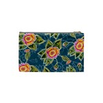 Floral Fantsy Pattern Cosmetic Bag (Small)  Back