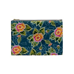 Floral Fantsy Pattern Cosmetic Bag (medium)  by DanaeStudio