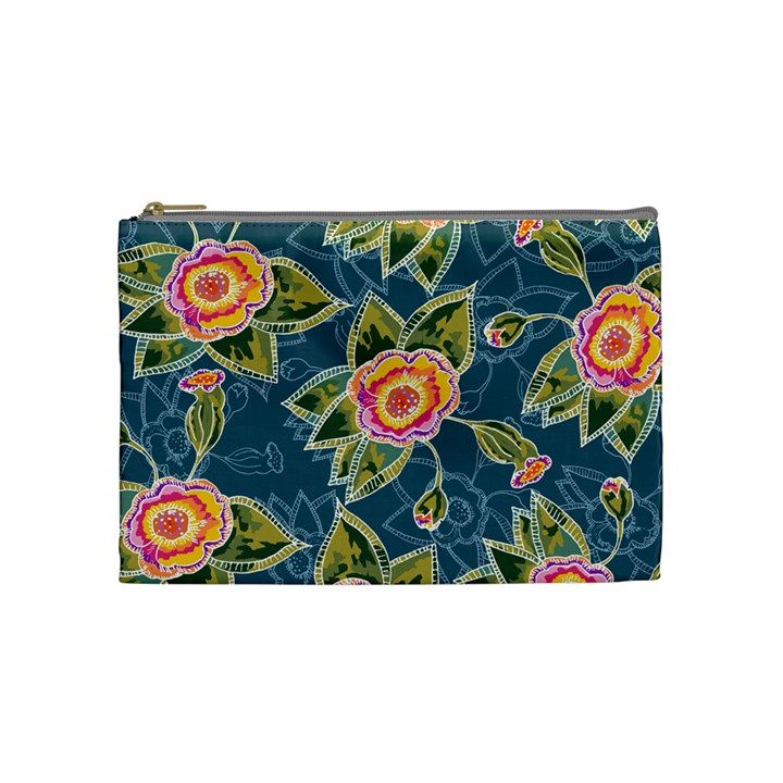 Floral Fantsy Pattern Cosmetic Bag (Medium)