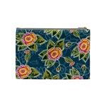 Floral Fantsy Pattern Cosmetic Bag (Medium)  Back