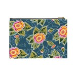 Floral Fantsy Pattern Cosmetic Bag (Large)  Back