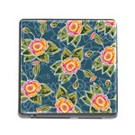 Floral Fantsy Pattern Memory Card Reader (Square)