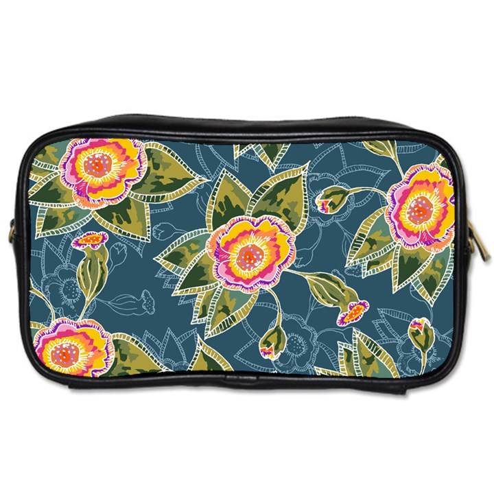 Floral Fantsy Pattern Toiletries Bags