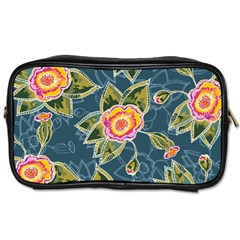 Floral Fantsy Pattern Toiletries Bags 2 Side by DanaeStudio