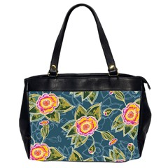 Floral Fantsy Pattern Office Handbags (2 Sides)  by DanaeStudio