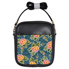 Floral Fantsy Pattern Girls Sling Bags by DanaeStudio