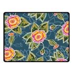 Floral Fantsy Pattern Fleece Blanket (Small)