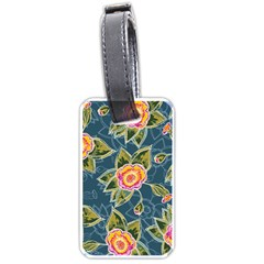 Floral Fantsy Pattern Luggage Tags (one Side)