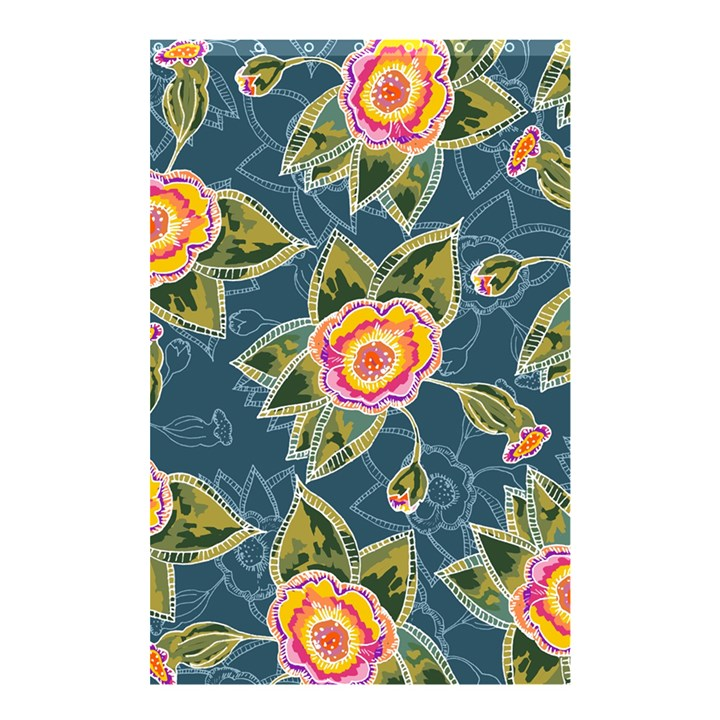 Floral Fantsy Pattern Shower Curtain 48  x 72  (Small)
