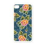 Floral Fantsy Pattern Apple iPhone 4 Case (White)