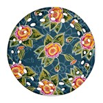 Floral Fantsy Pattern Ornament (Round Filigree)  Front