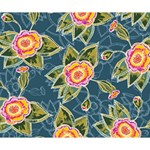 Floral Fantsy Pattern Deluxe Canvas 14  x 11  14  x 11  x 1.5  Stretched Canvas