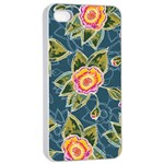 Floral Fantsy Pattern Apple iPhone 4/4s Seamless Case (White)