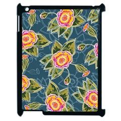 Floral Fantsy Pattern Apple Ipad 2 Case (black) by DanaeStudio