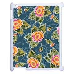 Floral Fantsy Pattern Apple Ipad 2 Case (white) by DanaeStudio