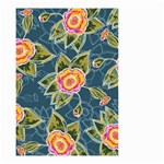 Floral Fantsy Pattern Small Garden Flag (Two Sides) Back