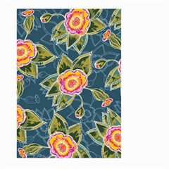 Floral Fantsy Pattern Large Garden Flag (two Sides) by DanaeStudio