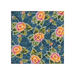 Floral Fantsy Pattern Acrylic Tangram Puzzle (4  X 4 )