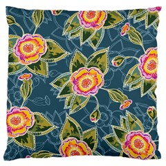 Floral Fantsy Pattern Large Cushion Case (one Side) by DanaeStudio