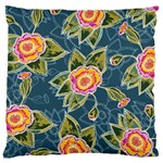 Floral Fantsy Pattern Large Cushion Case (Two Sides) Back