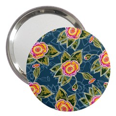 Floral Fantsy Pattern 3  Handbag Mirrors by DanaeStudio