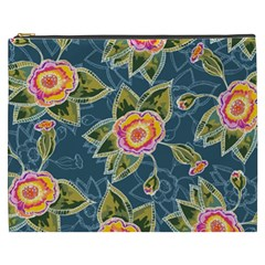Floral Fantsy Pattern Cosmetic Bag (xxxl)  by DanaeStudio