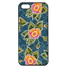 Floral Fantsy Pattern Apple Iphone 5 Seamless Case (black) by DanaeStudio