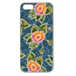 Floral Fantsy Pattern Apple Seamless iPhone 5 Case (Clear) Front