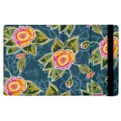 Floral Fantsy Pattern Apple Ipad 2 Flip Case by DanaeStudio