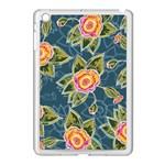 Floral Fantsy Pattern Apple iPad Mini Case (White) Front