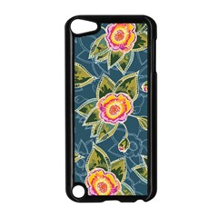 Floral Fantsy Pattern Apple Ipod Touch 5 Case (black) by DanaeStudio