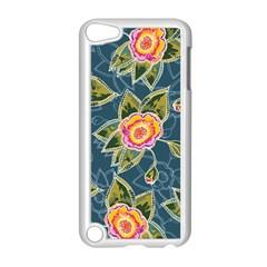 Floral Fantsy Pattern Apple Ipod Touch 5 Case (white) by DanaeStudio