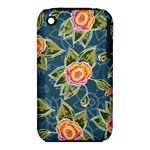 Floral Fantsy Pattern Apple iPhone 3G/3GS Hardshell Case (PC+Silicone)