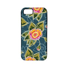Floral Fantsy Pattern Apple Iphone 5 Classic Hardshell Case (pc+silicone) by DanaeStudio