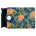 Floral Fantsy Pattern Apple iPad 2 Flip 360 Case Front